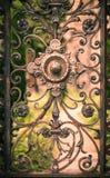 Del av den rostiga porten Karaktärsteckningeffekt royaltyfria bilder