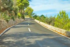 Del av den slingrande vägen i Palma de Mallorca Arkivbilder