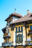 Del av den trevliga byggnaden i gammal stad, Brasov Royaltyfri Bild