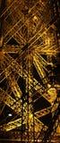 Del av det Eifel tornet på natten Arkivbilder