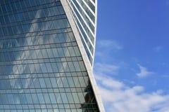 Del av det moderna höghuset Arkivfoton