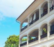 Del av det moderna lyxiga hotellet Arkivfoto