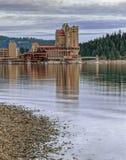 Del av dowtownCoeur d'Alene, Idaho Fotografering för Bildbyråer