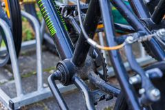 Del av en BMX-cykel arkivfoto