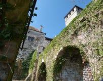 Del av en medeltida fästning Royaltyfria Foton