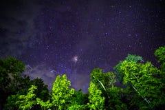 Del av en natthimmel med stjärnor Royaltyfri Fotografi