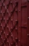 Del av en tappningbruntdörr som göras av metall Royaltyfria Bilder