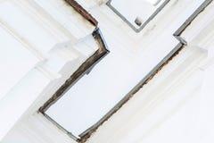Del av en vit abstrakt byggnadsbakgrund Arkivbilder