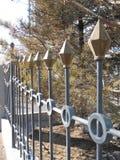 Del av ett atractive staket Arkivfoton