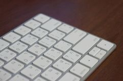 Del av ett datortangentbord royaltyfri bild