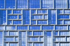 Del av ett höghus av Moskva-staden, Ryssland, Moskva, Juli 2017 Arkivfoto