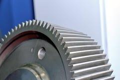 Del av ett industriellt kugghjul, kugghjul arkivfoton