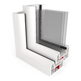 Del av fönstret Frame som isoleras på vit Royaltyfri Foto