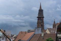 Del av Freiburg i Tyskland Fotografering för Bildbyråer