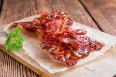 Del av Fried Bacon Royaltyfria Bilder