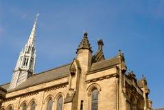 Del av huvudbyggnaden av universitetet av Glasgow Arkivbild