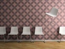 Del av inre med tolkningen för stol 3D för flyg den vita Royaltyfria Bilder