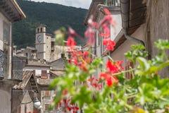 Del av italienareScanno den gamla staden i landskap av L ` Aquila Abruzzoen Royaltyfria Foton