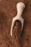 Del av kakaopulver Arkivfoto