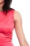 Del av människokroppen, kvinnlig armskuldra arkivbild