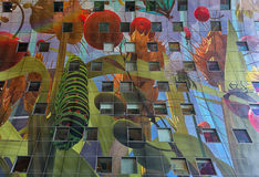 Del av 11 000 m2 konstverk av Arno Coenen namngav Horn av Plent Arkivfoto