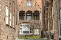 Del av Memlingmuseumen, Bruges, Belgien Fotografering för Bildbyråer