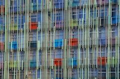 Del av modern byggnad i Moskva Arkivfoto