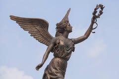 Del av monumentet till gudinnan av segern Nike Arkivfoton