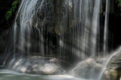 Del av nivå 2 från den Erawan vattenfallet Arkivbild