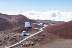 Del av observatoriet på Mauna Kea, Hawaii Royaltyfri Bild