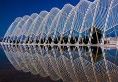 Del av Olympic Stadium Athens Grekland Royaltyfri Foto