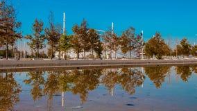 Del av Olympic Stadium Athens Grekland Arkivfoto