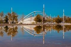 Del av Olympic Stadium Athens Grekland Royaltyfria Foton