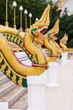 Del av ormwatnong wang, thai tempel Arkivbild