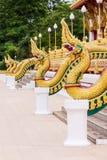 Del av ormwatnong wang, thai tempel Arkivfoto