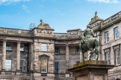 Del av parlamentfyrkanten med den rid- statyn av Charles Royaltyfria Foton