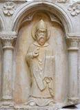 Del av polyptich i kloster av munkarna som är mindre i Dubrovnik Arkivbilder