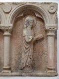 Del av polyptich i kloster av munkarna som är mindre i Dubrovnik Arkivfoto