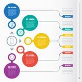 Del av rapporten med symbolsuppsättningen Vektor som är infographic av technol royaltyfri illustrationer
