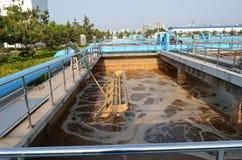 Del av reningsanläggningplatsen Arkivfoton