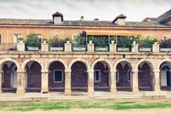 Del av Royal Palace (verkliga Palacio), Aranjuez, Spanien Arkivbilder