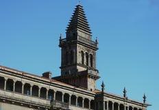 Del av Santiago de Compostela Cathedral arkivfoto