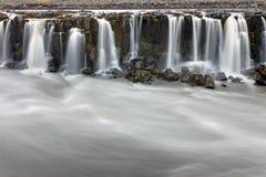 Del av Selfossen i Island royaltyfri fotografi