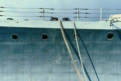 Del av skeppet med repet arkivbild