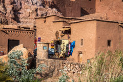 Del av slotten av Ait Benhaddou, en stärkt stad, formen Royaltyfria Bilder