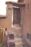 Del av slotten av Ait Benhaddou, en stärkt stad, formen Arkivfoto