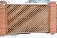 Del av staketet med propra remmar för en diagonal close upp royaltyfri illustrationer