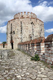 Del av tornet av den Yedikule fästningen Arkivbild