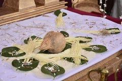 Del av traditionell poruwa i Sri Lanka Arkivbilder