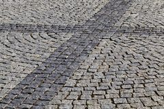 Del av trottoaren Arkivfoton